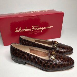 Salvatore Ferragamo Marrone Ponza loafers.